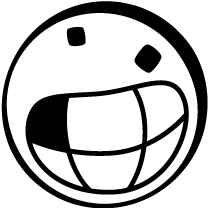Kreis und Kreise Emoji mit ausgeschlagener Zahn